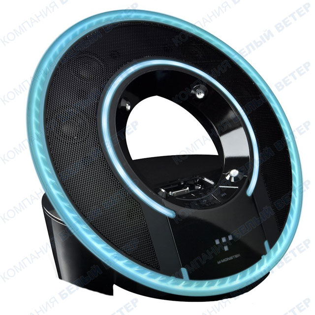 Акустическая система Monster TRON Light Disc Audio Dock - Black/Blue, for iPhone/iPod