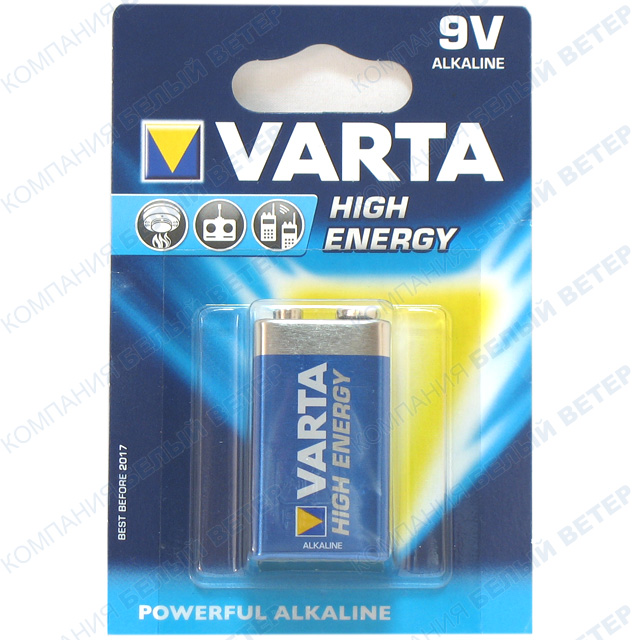 Батарейка Varta High Energy E-Block 6LP3146, 9V (1шт.)