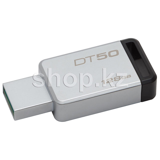 USB Флешка 128Gb Kingston DataTraveler 50, USB 3.1, Silver-Black