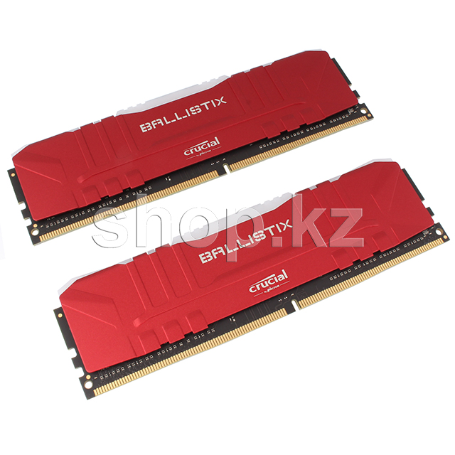 DDR-4 DIMM 16Gb/3000MHz PC24000 Crucial Ballistix RGB, 2x8Gb Kit, Red, BOX