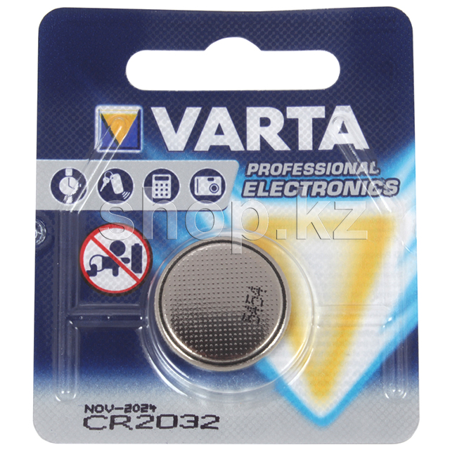 Батарейка Varta Electronics CR2032, 3V (1шт.)