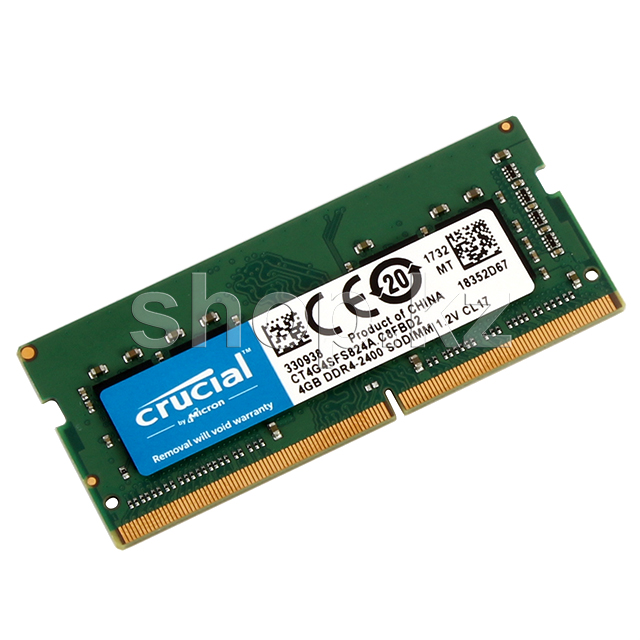 SO-DIMM 4Gb DDR4 PC19200/2400Mhz Crucial, BOX (CT4G4SFS824A)