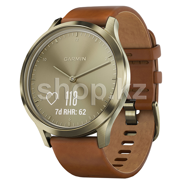 Смарт-часы Garmin Vivomove HR Premium, Brown-Gold