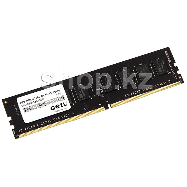DDR-4 DIMM 4Gb/2133MHz PC17000 Geil Pristine Series, BOX