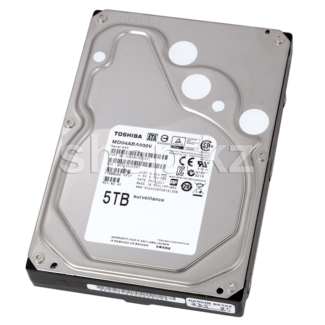 "Жесткий диск HDD 5000 Gb Toshiba (MD04ABA500V), 3.5"", 128Mb, SATA III"