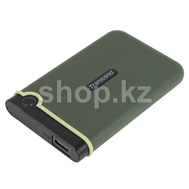 "Внешний жесткий диск 1000Gb 2.5"", Transcend StoreJet 25M3, Military green"