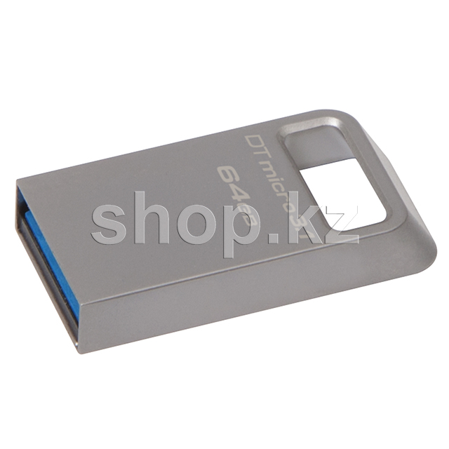 USB Флешка 64Gb Kingston DataTraveler Micro 3.1, USB 3.1, Silver