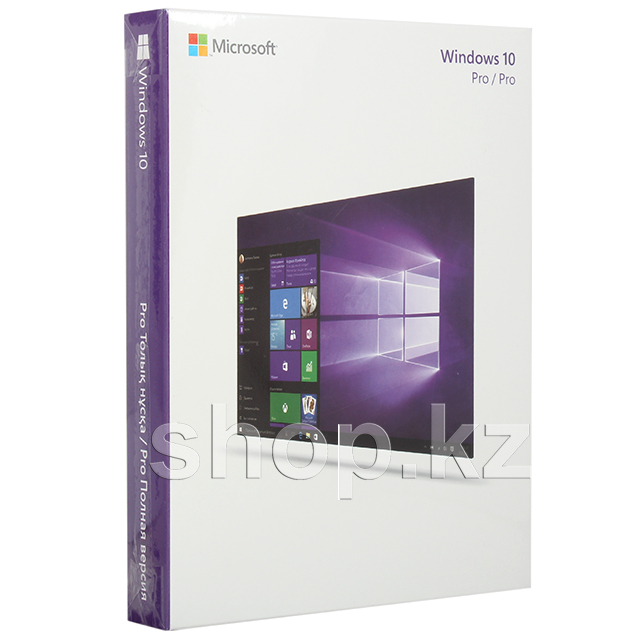 Microsoft Windows 10 Professional, 32-bit/64-bit, USB, BOX
