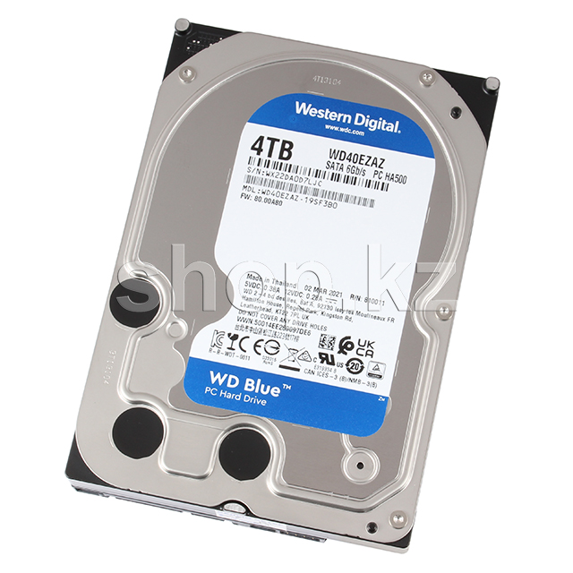 "Жесткий диск HDD 4000 Gb Western Digital (WD40EZAZ), 3.5"", 256Mb, SATA III, Blue"