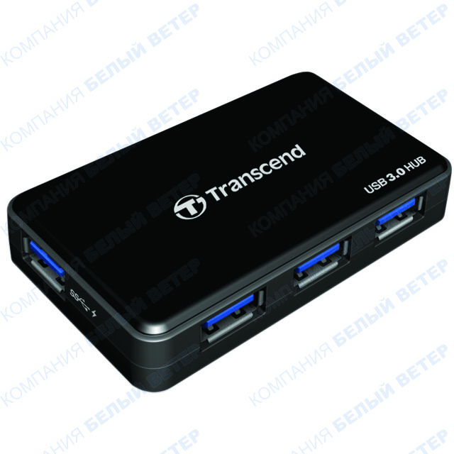 USB HUB 4-port USB 3.0 Transcend HUB3, Black