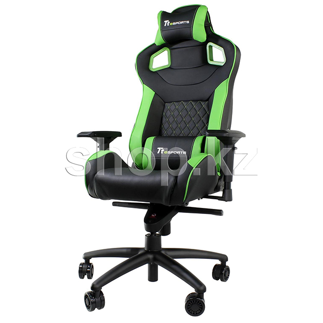 Кресло игровое компьютерное Thermaltake Tt eSports GT Fit F100 Gaming Chair, Black-Green