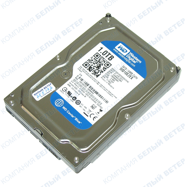 Жесткий диск HDD 1000 Gb Western Digital (WD10EZEX), 3.5'', 64Mb, SATA III