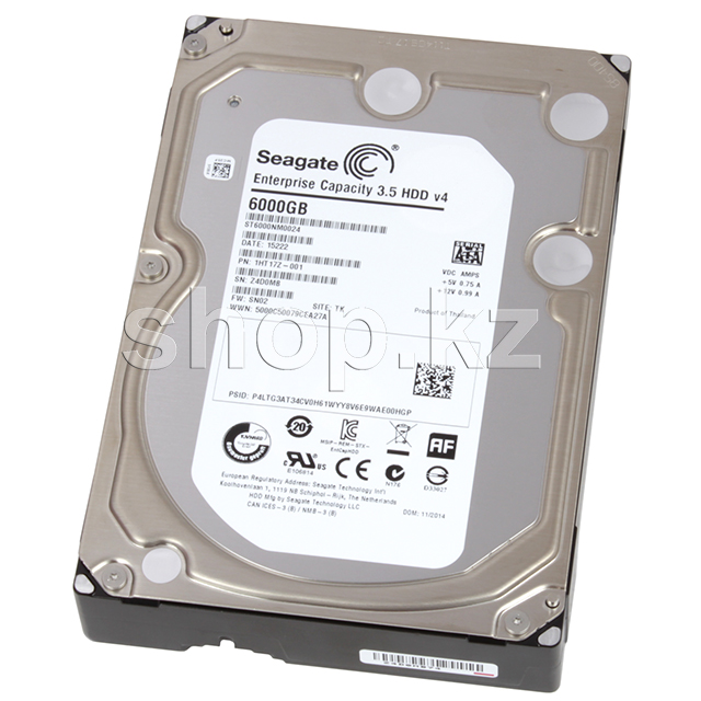 "Жесткий диск HDD 6000 Gb Seagate Enterprise Capacity (ST6000NM0024), 3.5"", 128Mb, SATA III"