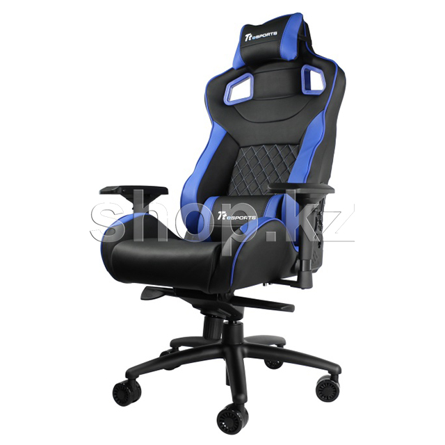 Кресло игровое компьютерное Thermaltake Tt eSports GT Fit F100 Gaming Chair, Black-Blue