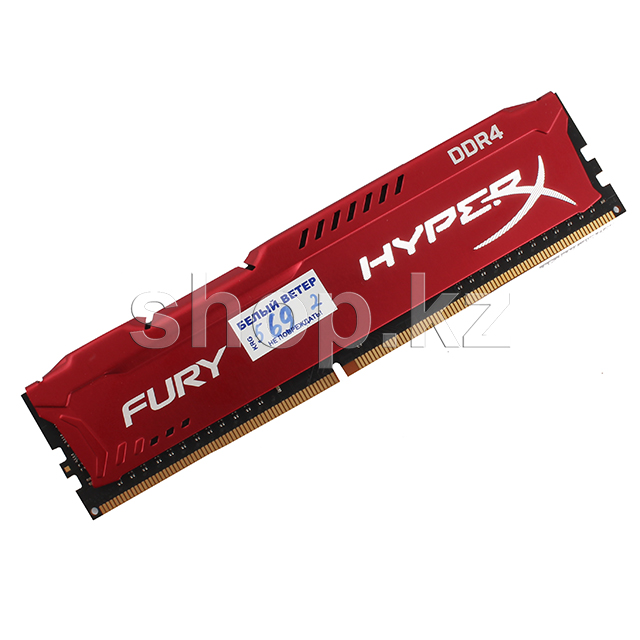 DDR-4 DIMM 16Gb/2933MHz PC23466 Kingston HyperX Fury, CL17, Red, BOX