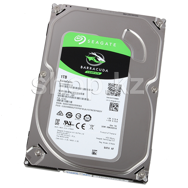 "Жесткий диск HDD 1000 Gb Seagate Barracuda (ST1000DM010), 3.5"", 64Mb, SATA III"