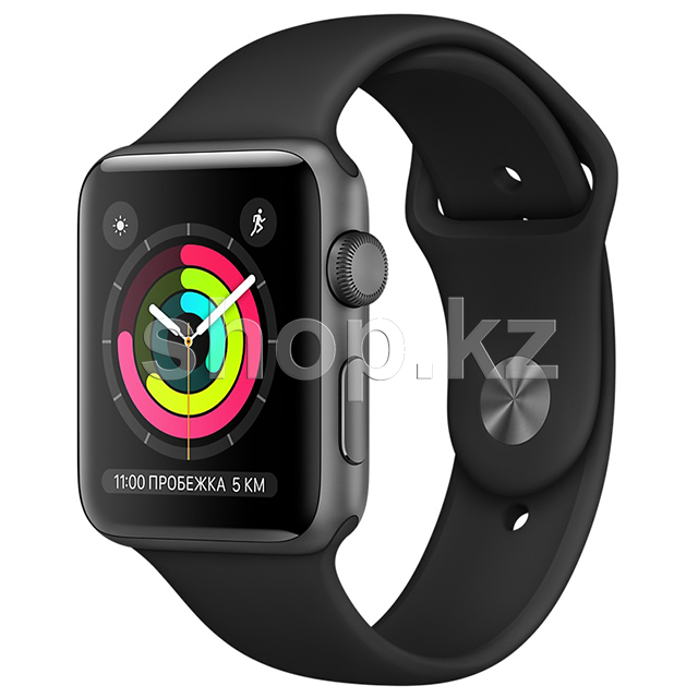 Смарт-часы Apple Watch Series 3, 42mm, Space Gray-Black (MTF32GK)