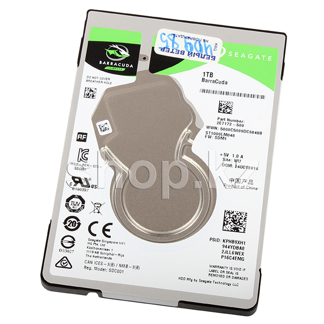 "Жесткий диск HDD 1000 Gb Seagate Barracuda, 2.5"", 128Mb, SATA III"