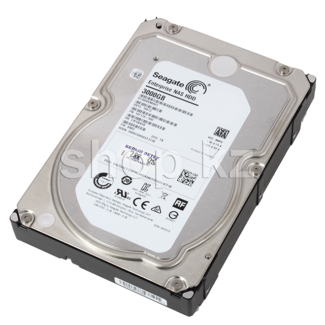 "Жесткий диск HDD 3000 Gb Seagate Enterprise NAS (ST3000VN0001), 3.5"", 128Mb, SATA III"