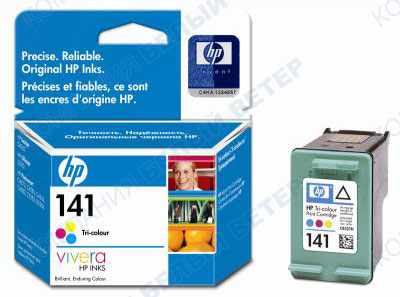 Картридж HP CB337HE No 141, color
