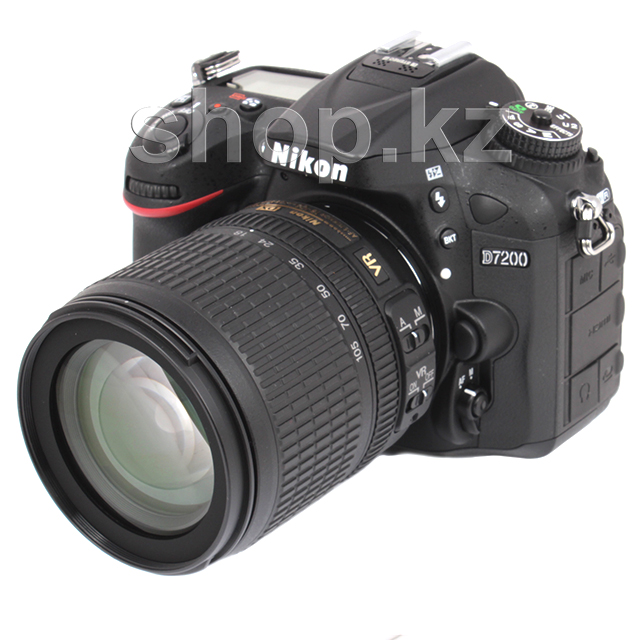 Фотоаппарат Nikon D7200 Kit, 18-105mm VR, Black