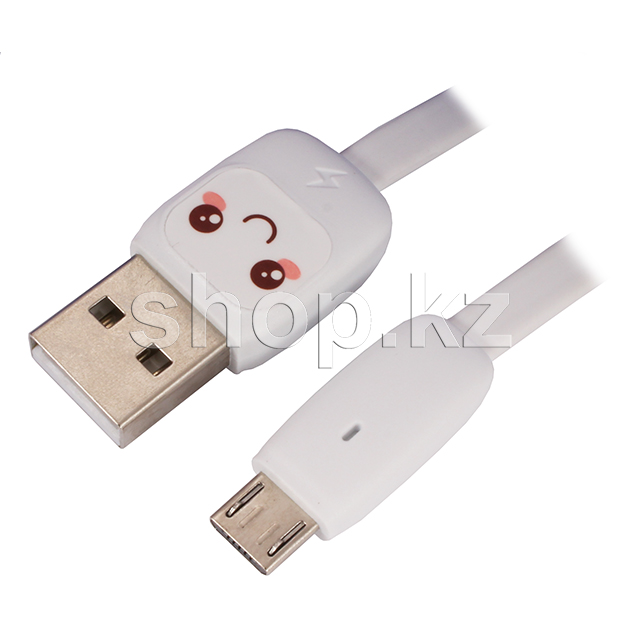 Кабель интерфейсный для Micro USB Usams SJ-233, 1.2m, White