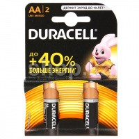 Батарейка Duracell Basic AA LR6/MN1500, 1.5V (2шт.)