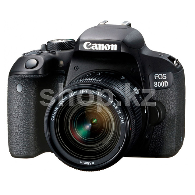 Фотоаппарат Canon EOS-800D Kit, 18-55mm IS STM, Black