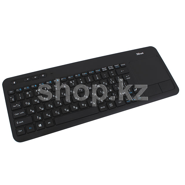 Клавиатура Trust Veza Wireless Touchpad, Black, USB