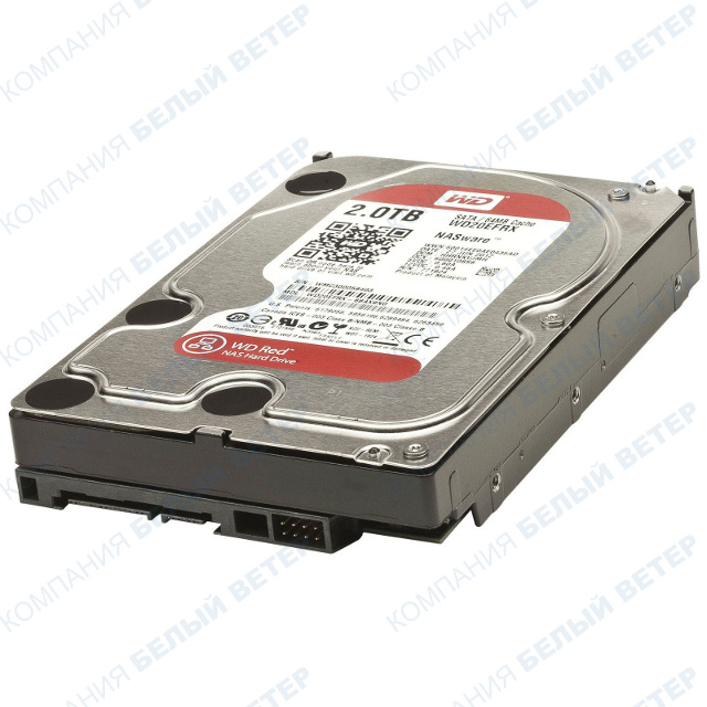 "Жесткий диск HDD 2000 Gb Western Digital (WD20EFRX), 3.5"", 64Mb, SATA III"