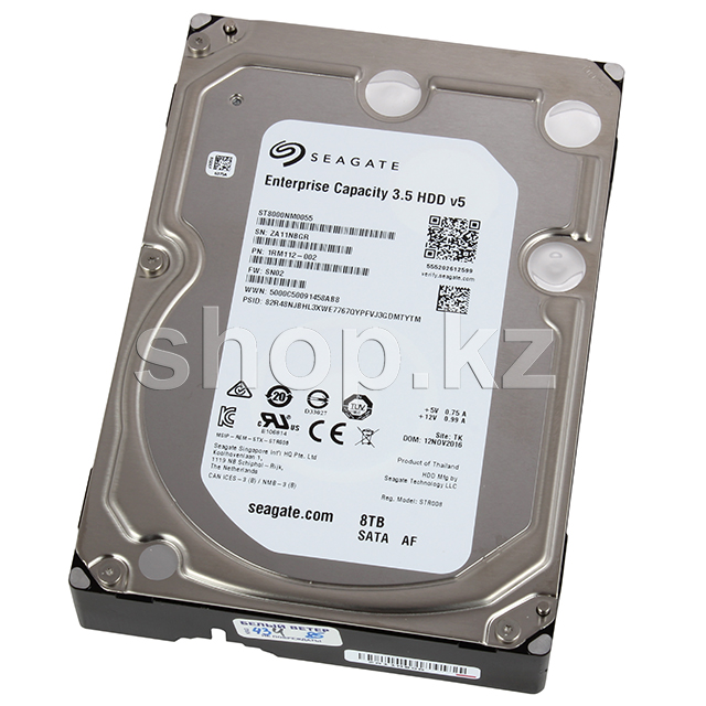 "Жесткий диск HDD 8000 Gb Seagate Enterprise Capacity (ST8000NM0055), 3.5"", 256Mb, SATA III"