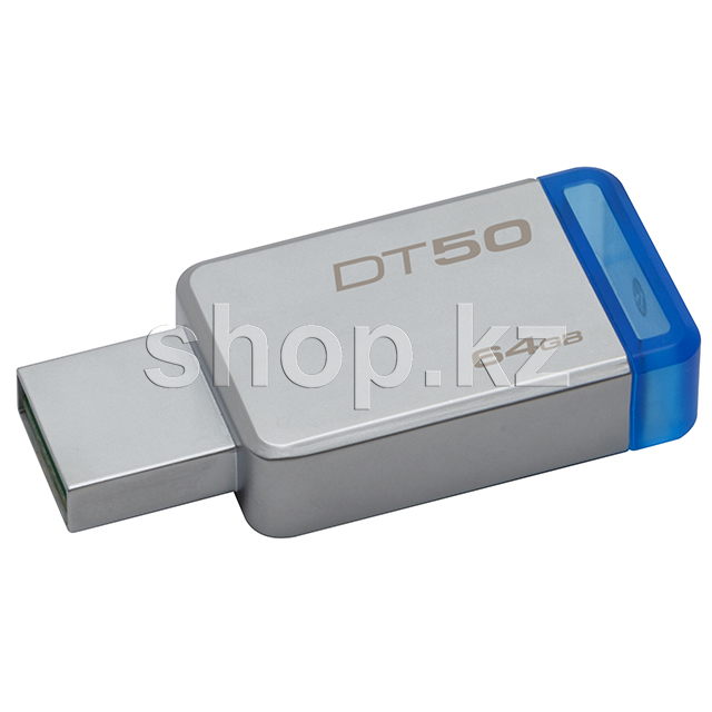 USB Флешка 64Gb Kingston DataTraveler 50, USB 3.1, Silver