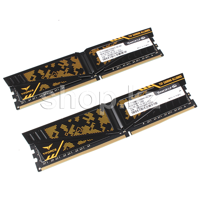 DDR-4 DIMM 16Gb/3200MHz PC25600 Team Group Vulcan TUF, 2x8Gb Kit, Yellow, BOX