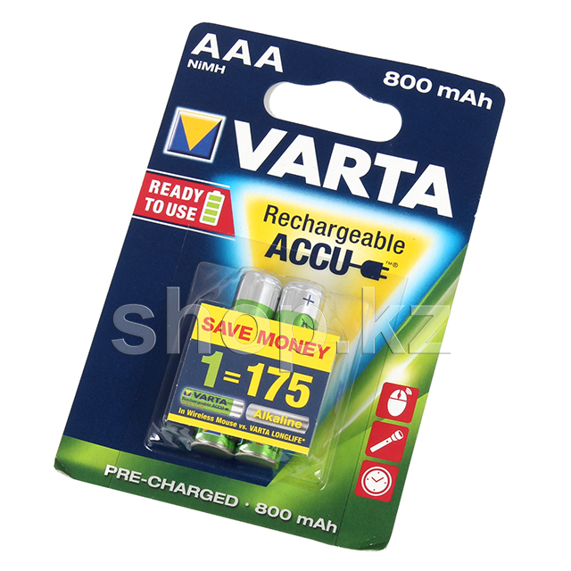 Аккумулятор Varta AAA Ready2Use HR03, 800mAh/1.2V (2шт.)