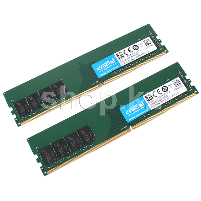 DDR-4 DIMM 16Gb/2400MHz PC19200 Crucial, 2x8Gb Kit, BOX (CT2K8G4DFS824A)