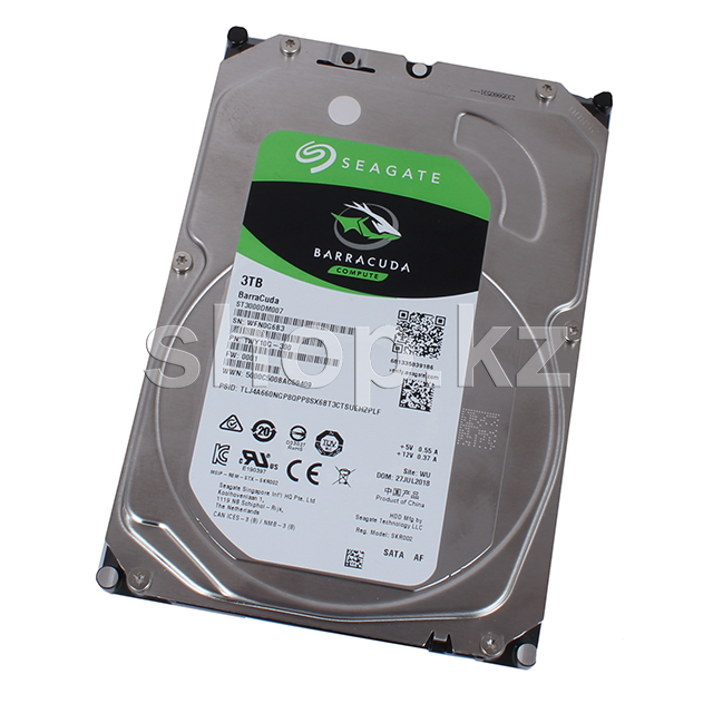 "Жесткий диск HDD 3000 Gb Seagate Barracuda (ST3000DM007), 3.5"", 256Mb, SATA III"