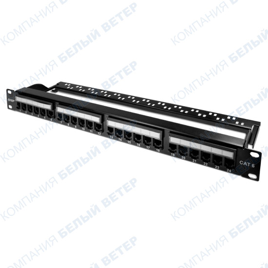 "Patch panel 24-port SHIP P197-24A, RJ-45, 19"", 1U, Cat. 6e"