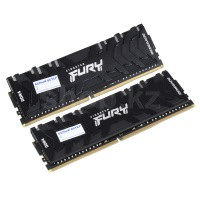 DDR-4 DIMM 64Gb/3200MHz PC25600 Kingston Fury Renegade RGB, 2x32Gb Kit, Black, BOX (KF432C16RBAK2/64)