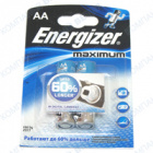 Фото Батарейка Energizer Maximum AA LR6, 1.5V (2шт.)